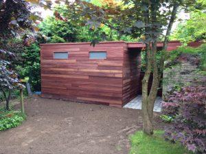 Tuinhuis volledig afgewerkt